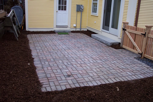 Basket Weave Patio Pattern : Ethan poulin landscaping patios